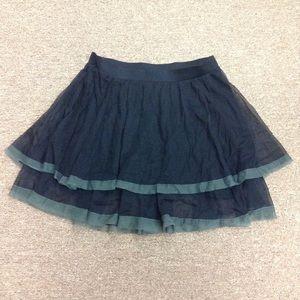 (Free People) Black Tulle Skirt